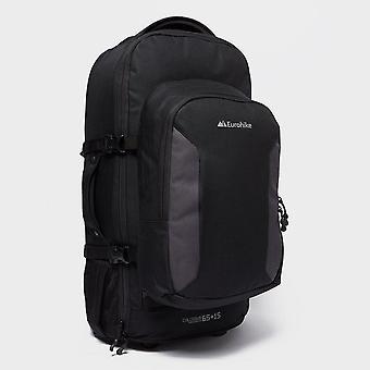 New Eurohike Colossus Transporter 65+15 Litre Wheeled Rucksack Travel Luggage Black