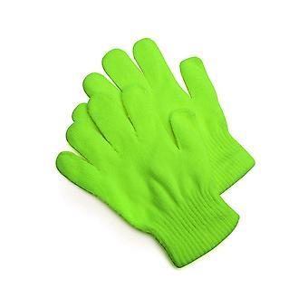 Luvas de malha verde