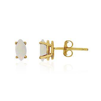 LXR 14k keltainen kulta opaali markiisi korvakorut 0.17ct