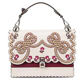 حقيبة جلديه فيندي المتوسطة متعددة ألوان