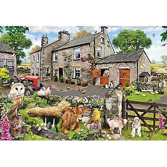 Gibsons Farmyard Friends Jigsaw Puzzle (100 XXL pieces)