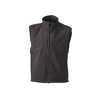 James and Nicholson Mens Waterproof Softshell Vest
