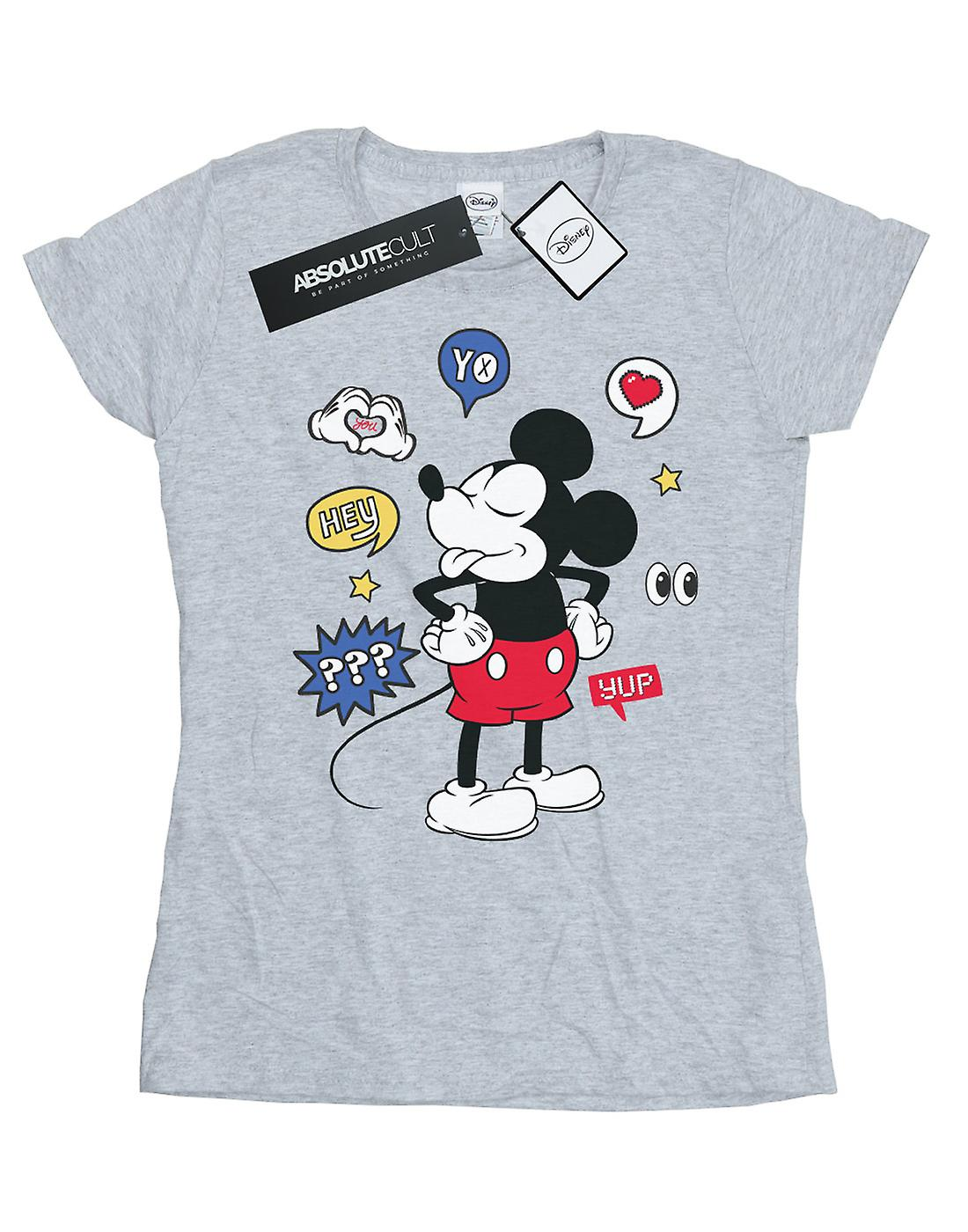 Disney Women's Mickey Mouse Tongue Out T-Shirt