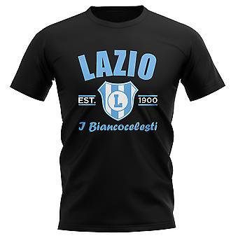 Lazio gevestigde voetbal T-Shirt (zwart)