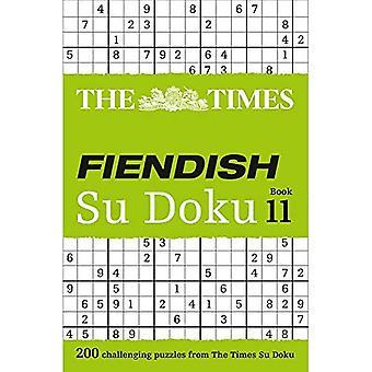The Times Fiendish Su Doku Book 11: 200 Challenging Su Doku Puzzles