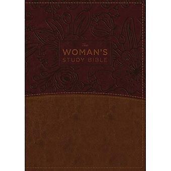 La NKJV, étude de la Bible de la femme, entièrement révisé, simili cuir, marron/Bordeaux, polychrome