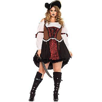Piraat Diva Plus Size kostuum