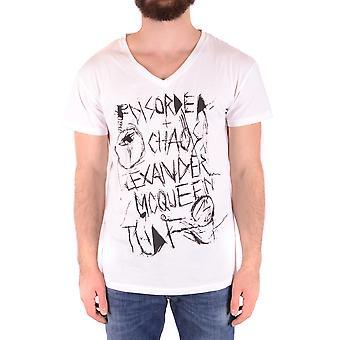 Mcq Door Alexander Mcqueen Ezbc053068 Men's White Cotton T-shirt