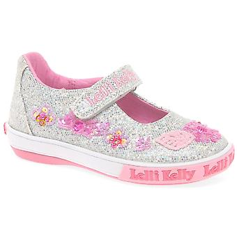 Lelli Kelly Glitter Daisy Dolly Girls Infant Canvas Shoes