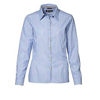 ID Womens/Ladies Striped Non Iron Long Sleeve Formal Shirt