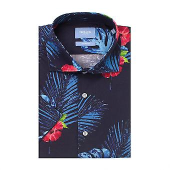 Tresanti Tropical Fantasy Cotton Short Sleeve Men's Shirt
