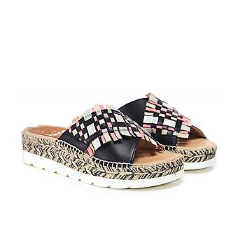 Kanna Crossover Espadrille Wedge Sandals