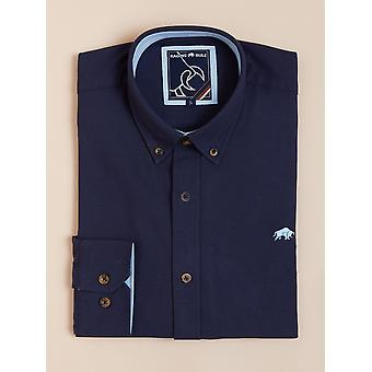 Long Sleeve Signature Oxford Shirt - Navy