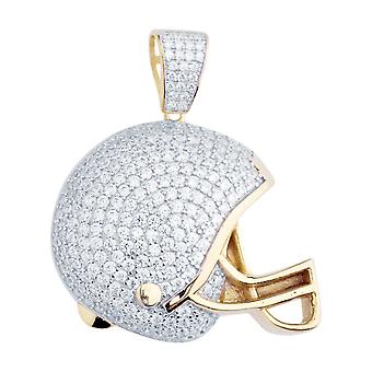 Prémio Bling - 925 prata esterlina pendente de capacete de futebol