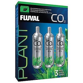 Fluval 95g CO2 Disposable Cartridge - 3 Pack