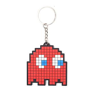 Pac-Man Blinky pixelig Charakter Rubber Keychain - rot (KE150200PAC)
