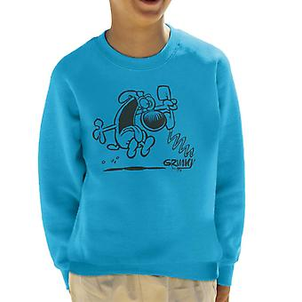 Grimmy på telefonen Kid's sweatshirt