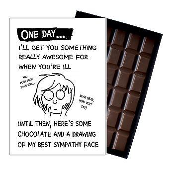Obtenez bien bientôt cadeau pour les hommes atteints de maladie Rude Boxed Chocolat Carte de voeux présent pour lui OD106