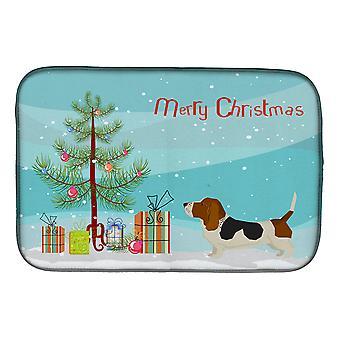 Carolines Treasures  CK3518DDM Basset Hound Christmas Tree Dish Drying Mat