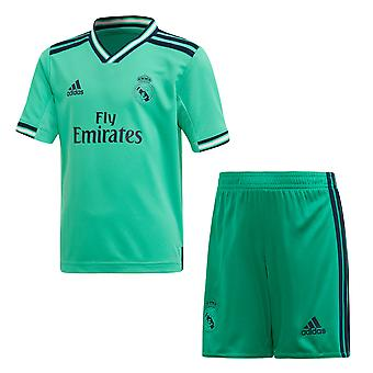 adidas Real Madrid 2019/20 Junior Kids La Liga Football Third Mini Kit Green