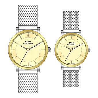 Carlo Cantinaro CC3001SM005 Partner Set Women's Watch Men's Watch