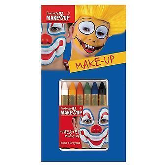 Maquillaje y pestañas conforman palos básicos 6 colores