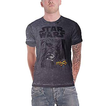 Star Wars T Shirt The Empire Strikes Back Chewie roar new Official Mens Grey