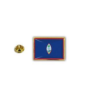 Pine PineS rinta nappi PIN-apos; s metalli epoksi perhonen hyppysellinen lippu Guam USA