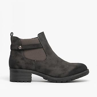 Rieker 96864-45 Ladies Ankle Boots Anthracite