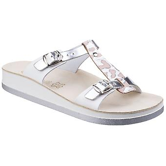 Fantasy Womens Jessamine Buckle Up Sandal Silver Antilope