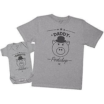 Daddy-apos;s Sidekick Porkchop - Chemise T Homme et Body pour bébé