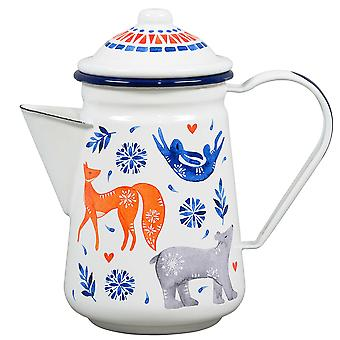 Wild & Wolf Folklore Coffee Pot, Sunrise Hare
