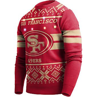 LED Light Up XMAS Knit Sweater - NFL San Francisco 49ers
