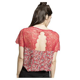 Grace and Mila Women's Maniac Bird Print Lace Blouse