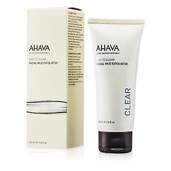 Ahava Time To Clear Facial Mud Exfoliator - 100ml/3.4oz