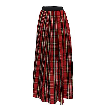 Joan Rivers Classics Collection Skirt Holiday Plaid Maxi Red A299365