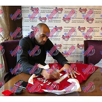 Arsenal Henry Bergkamp Pires Vieira Podpisana koszulka (Quad Framed)