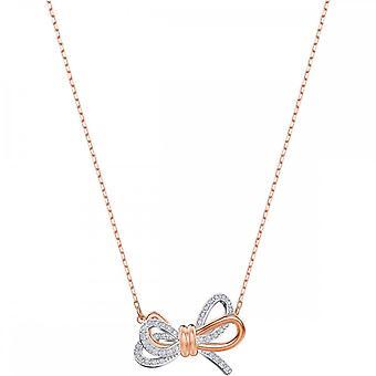 Swarovski Lifelong Mixed Plating & White Crystal Bow Pendant 5440636