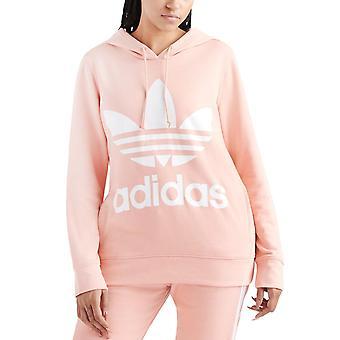 adidas Originals Womens Trefoil Casual Pullover Hoodie Hoody Jumper Top - Pink