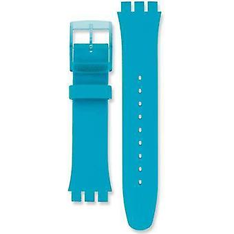 Authentic swatch watch strap rebel turquoise 20mm
