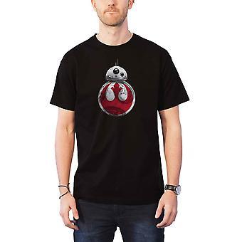 Star Wars T Shirt Last Jedi BB-8 Resistance Episode VIII Official Mens Black