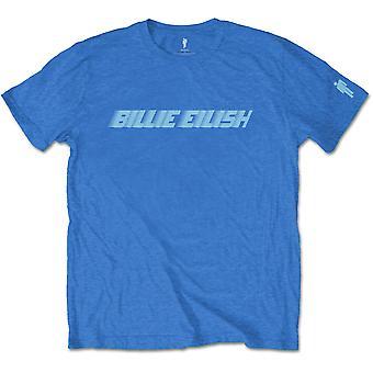 Blue Billie Eilish Racer Logo Official Tee T-Shirt Mens Unisex