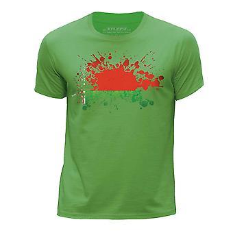 STUFF4 Chłopca rundy szyi T-shirty Shirt/Białoruś/białoruski flaga ikona/zielony