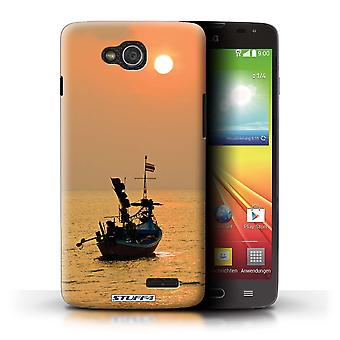 STUFF4 Case/Cover for LG L90 Dual/D410/Boat/Orange Sun/Thailand Scenery
