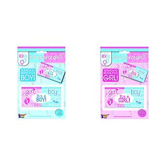 Bristol Novelty Gender Reveal Lotto Tickets (Pack Of 12)