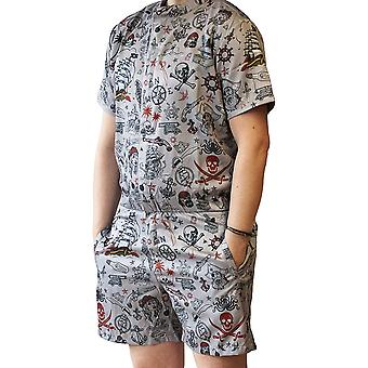 Funny Guy Mugs Mens Romper - Premium Adult Jumpsuit with Zippered Pockets (Pi...