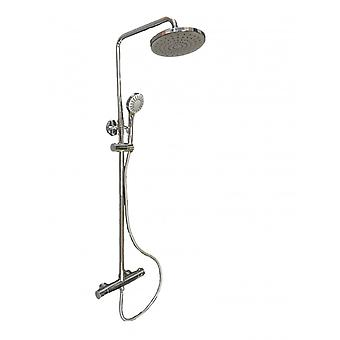 Thermostatic Shower Column Telescopic Height Adjustable All In Brass Complete