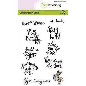 CraftEmotions clear Stamps A6 - Sjors Frühling Zitate (Eng) Carla Creaties