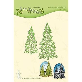 LeCrea Lea'bilitie قطع والنقش يموت -- أشجار عيد الميلاد