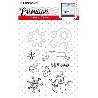 Studio Light A6 Stamp & Die Cut Essentials Christmas Number 27